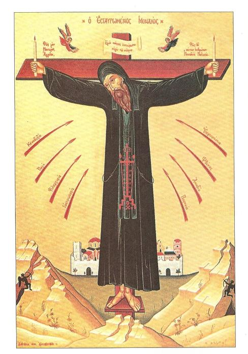 Modern Image of the Crucified Monk