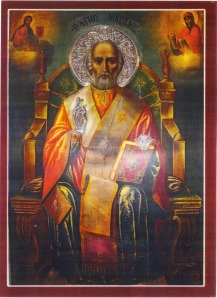 St Nicholas of Kokkari, painted on Mt Athos, 1909