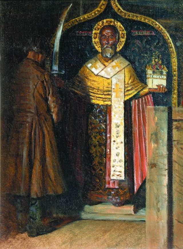 The icon of St. Nicholas by V. Vereshchagin (1894)