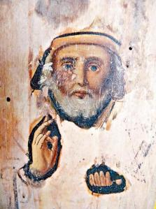Face of St. Nicholas Appears On Burnt Icon, Ukraine (2011)